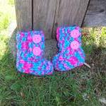 Multi Color Baby Boots